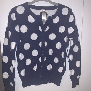 Cherokee • Navy Blue & White Dots Sweater• 4T